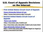 u s court of appeals decisions on the internet1