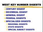 west key number digests