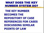 what does the key number system do