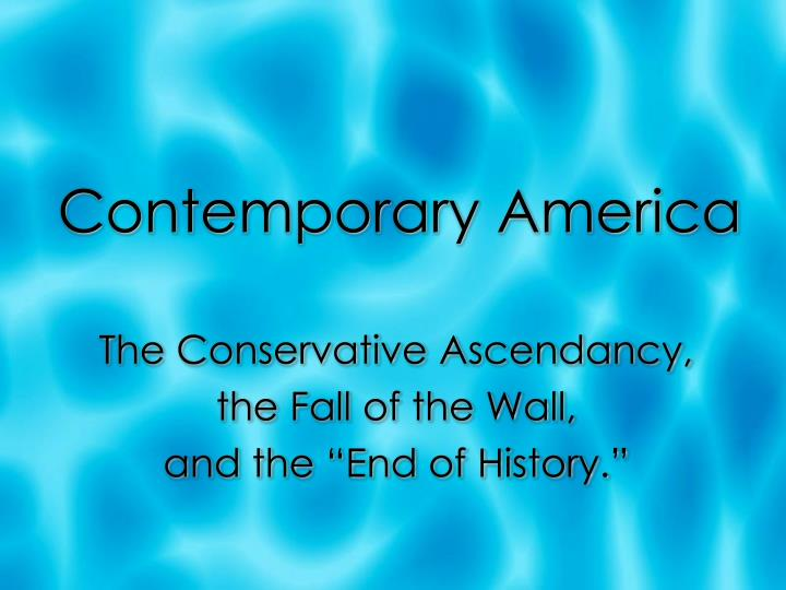 contemporary america n.