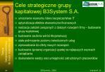 cele strategiczne grupy kapita owej b3system s a
