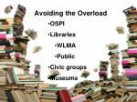 avoiding the overload