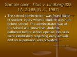 sample case titus v lindberg 228 1a 2d 65 n j 1967