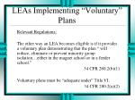 leas implementing voluntary plans