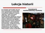lekcja historii