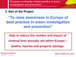 european exchange of best practice in arson investigation and prevention3