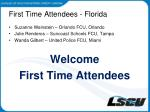 first time attendees florida1
