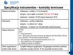 specyfikacja instrument w kontrakty terminowe