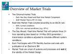 overview of market trials1