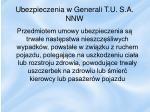 ubezpieczenia w generali t u s a nnw