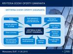 k ryteria oceny oferty gwaranta