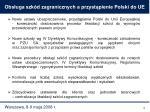 obs uga szk d zagranicznych a przyst pienie polski do ue