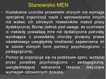 stanowisko men