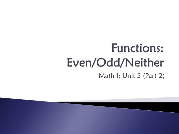 functions even odd neither n.
