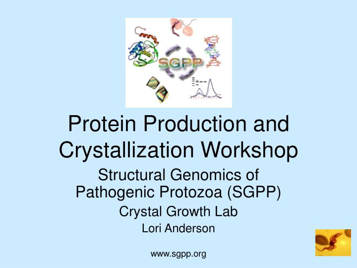 protein production and crystallization workshop n.