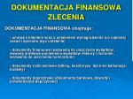 dokumentacja finansowa zlecenia