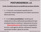 posturogeneza c d