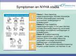 symptomen en nyha stadia