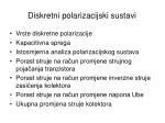 diskretni polarizacijski sustavi
