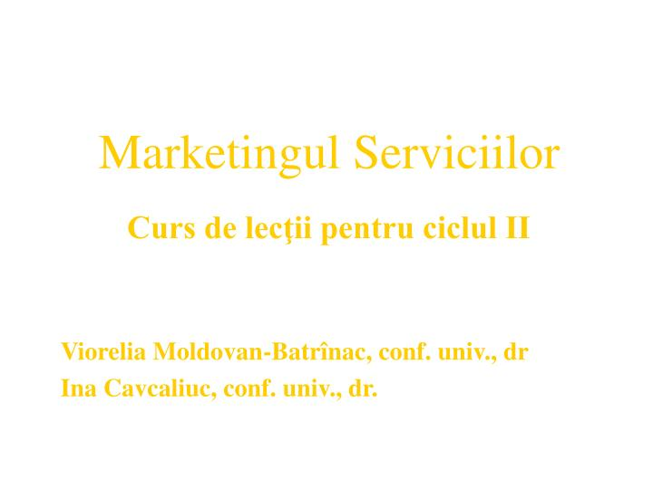 marketingul serviciilor n.