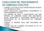 conclusion del procedimiento de cobranza coactiva1
