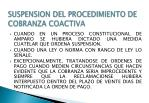 suspension del procedimiento de cobranza coactiva