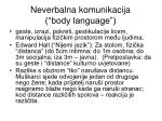 neverbalna komunikacija body language