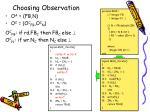 choosing observation