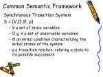 common semantic framework