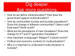 dig deeper ask more questions