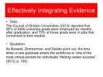 effectively integrating evidence1