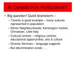 is canada truly multicultural
