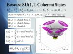bosons su 1 1 coherent states