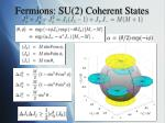 fermions su 2 coherent states