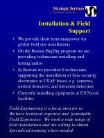 installation field support