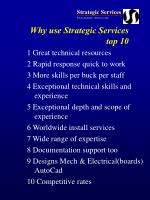 why use strategic services top 10