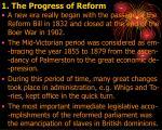 1 the progress of reform