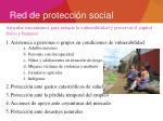 red de protecci n social