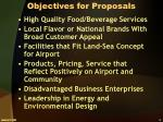 objectives for proposals