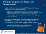 international centre for research on women icrw