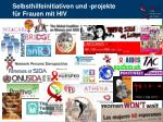 selbsthilfeinitiativen und projekte f r frauen mit hiv