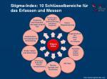 stigma index 10 schl sselbereiche f r das erfassen und messen