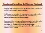 comisi n consultiva del sistema nacional