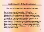 conformaci n de las comisiones