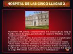 hospital de las cinco llagas 2