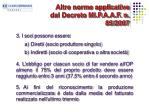 altre norme applicative dal decreto mi p a a f n 85 20071