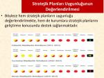 stratejik planlar uygunlu unun de erlendirilmesi1
