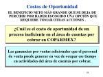 costos de oportunidad