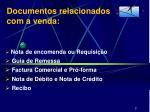 documentos relacionados com a venda