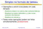 simplex no formato de tableau11